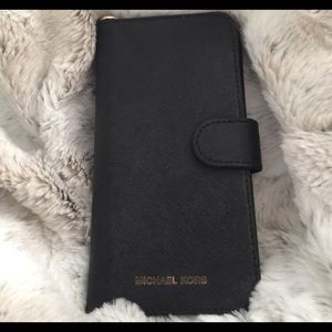 Michael Kors Black leather iPhone 6 case